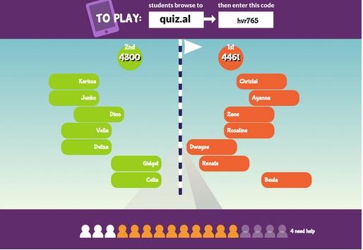 תמונה עם דוגמא מהמשחק Quizalize
